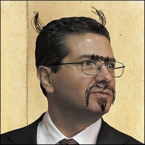 Dan Snyder sued the Washington City Paper for the story that accompanied this image, which his lawsuit called anti-semitic. Dan Snyder is the worst person in the world.