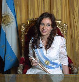 Argentinian President Cristina Fernandez de Kirchner, history's greatest monster according to internet advertising. (Wikimedia Commons)
